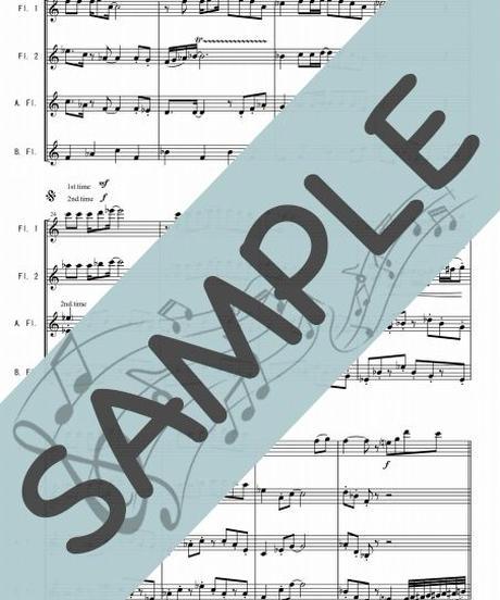 SJ-FQG022-01 中央フリーウェイ/荒井由実:フルート四重奏(2Flutes,Alto-Flute,Bass-Flute)