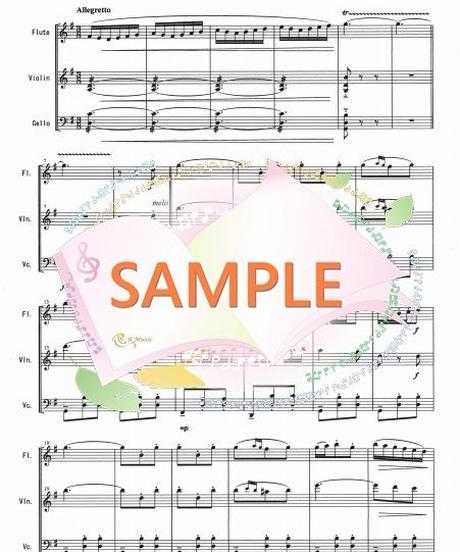 FVC007 乾杯の歌「椿姫」/ヴェルディ:管弦楽三重奏(フルート、バイオリン、チェロ)