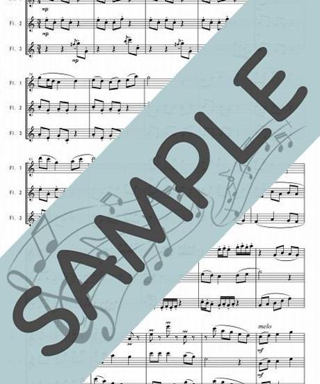 SP-FT019-01 四季の彩り~日本の歌メドレー:フルート三重奏(3Flutes)