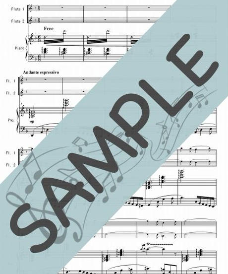 SP-PF007-01 耳に残るは君の歌声「真珠採り」より/ビゼー:ピアノ&フルート2本