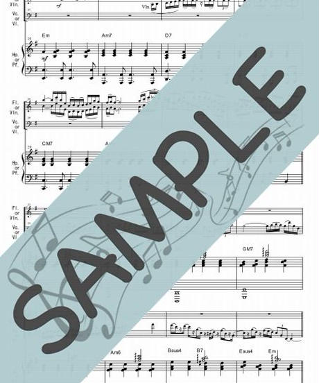 SP-PWS002-01 アヴェ・マリア/カッチーニ:ハープ又はピアノ三重奏/ハープ(or ピアノ)、フルート(or ヴァイオリン)、チェロ(or ヴァイオリン)