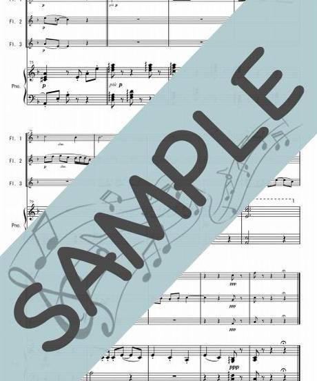 SP-PF005-01 小組曲「メヌエット」/ドビュッシー:ピアノ&フルート3本