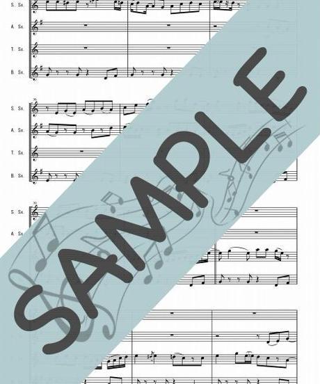 SJ-RSQ002-01 スタンド・バイ・ミー(Stand by Me)/ベン・E・キング:サクソフォーン四重奏(Soprano,Alto,Tenor,Baritone)