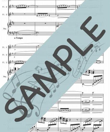 SP-PF003-01 小組曲「小舟にて」/ドビュッシー:ピアノ&フルート3本