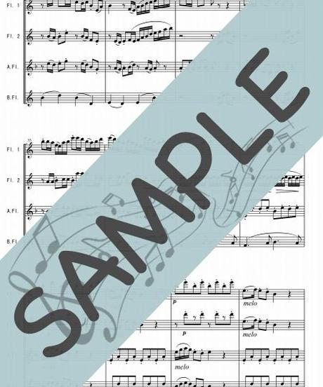 SP-FQG003-01 春の海/宮城 道雄:フルート四重奏(2Flutes,Alto-Flute,Bass-Flute)