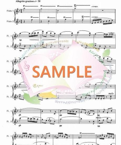 FD038 春の歌/メンデルスゾーン(フルート二重奏)