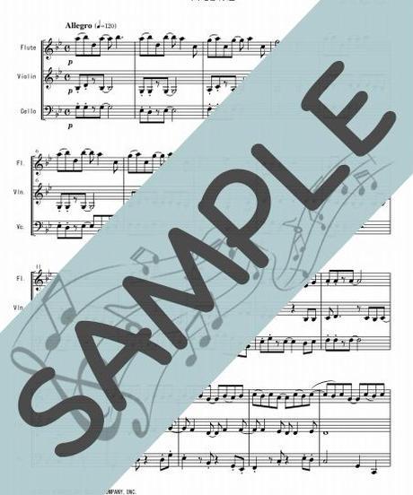 SJ-FVC013-01 Let It Go~ありのままで「アナと雪の女王」より: クリスティン・アンダーソン・ロペス /ロバート・ロペス:フルート、バイオリン、チェロの三重奏
