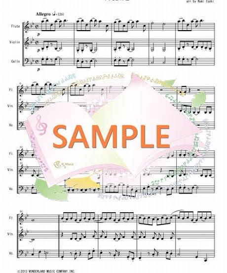 FVC013 Let It Go~ありのままで「アナと雪の女王」/ クリスティン・アンダーソン・ロペス  ロバート・ロペス:管弦楽三重奏(フルート、バイオリン、チェロ)