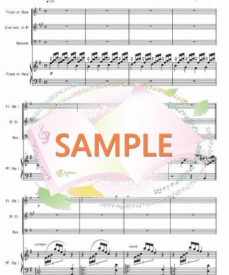 WER007 アヴェ・マリア/カッチーニ:木管四重奏(木管3本+ハープ又はピアノ)