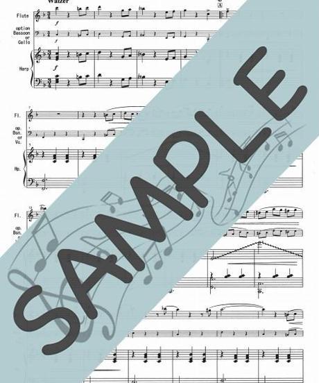 SP-HF009-01 春の声/J.シュトラウス:ハープとフルート(+option/ファゴット又はチェロ)