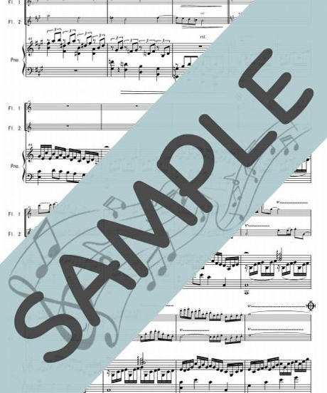 SR-PF009-01 金の風 銀の風/井関るみ:ピアノ&フルート2本