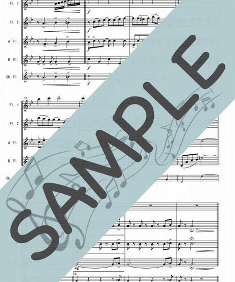 SJ-FQG025-01 夜桜お七/三木たかし:フルート四重奏(2Flutes,Alto-Flute,Bass-Flute/op.+Contrabass-flute)