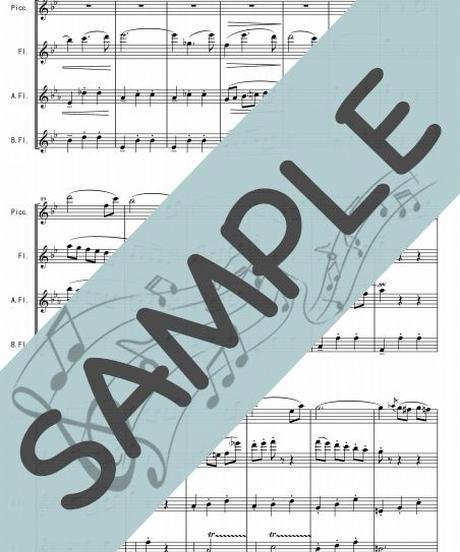 SP-FQG002-01 春の声/J.シュトラウス:フルート四重奏(Piccolo,Flute,Alto-Flute,Bass-Flute)