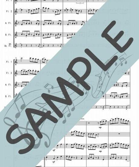 SJ-FQG017-01 ルージュの伝言「魔女の宅急便」より/荒井由実:フルート四重奏(2Flutes,Alto-Flute,Bass-Flute/op.+Contrabass-Flute)