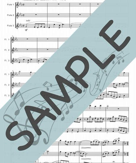 SP-FT021-01 フォスターメドレー:フルート三重奏(3Flutes)