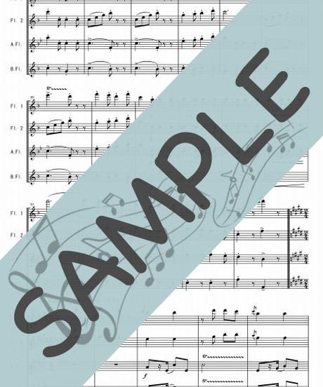 SP-FQG005-01 カンツォーネ・メドレー:フルート四重奏(2Flutes,Alto-Flute,Bass-Flute)