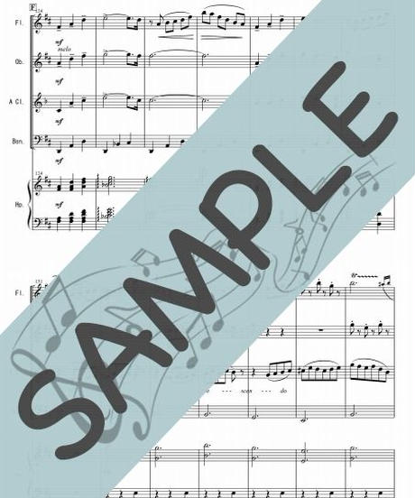 SP-WQ002-01 くるみ割り人形より「小序曲」「行進曲」「花のワルツ」/チャイコフスキー:木管四重奏(フルート、オーボエ、クラリネット、ファゴット/op.ハープ)