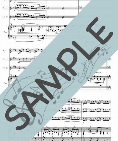 SP-PF004-01 小組曲「行列」/ドビュッシー:ピアノ&フルート3本