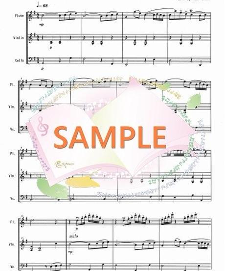 FVC002 アリオーソ/J.S.バッハ:管弦楽三重奏(フルート、バイオリン、チェロ)