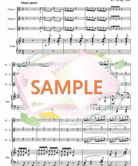 PF006 小組曲「バレエ」/ドビュッシー:フルート3本とピアノ