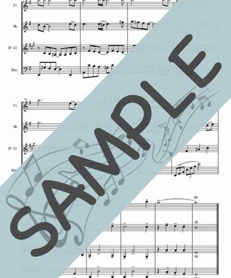 SJ-WQ003-01 見上げてごらん夜の星を/いずみたく:木管四重奏(フルート、オーボエ、クラリネット、ファゴット)