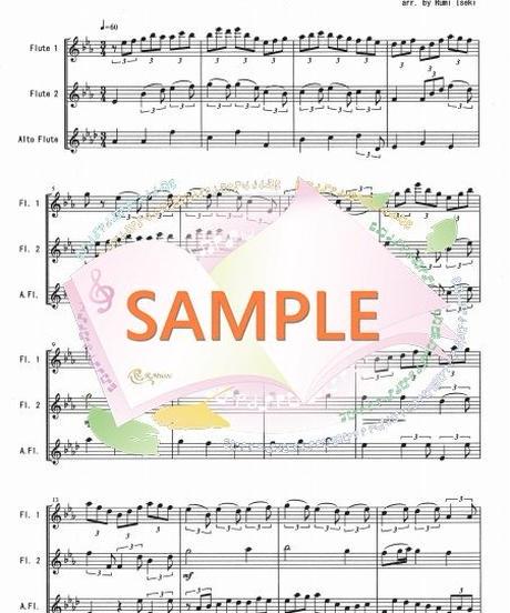 FT005 主よ人の望みの喜びよ /J.S.バッハ:フルート三重奏(2Flutes,Alto-Flute)