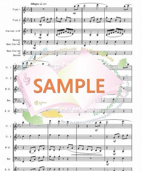 WER009 虹のワルツ1~3楽章/井関るみ:木管四重奏