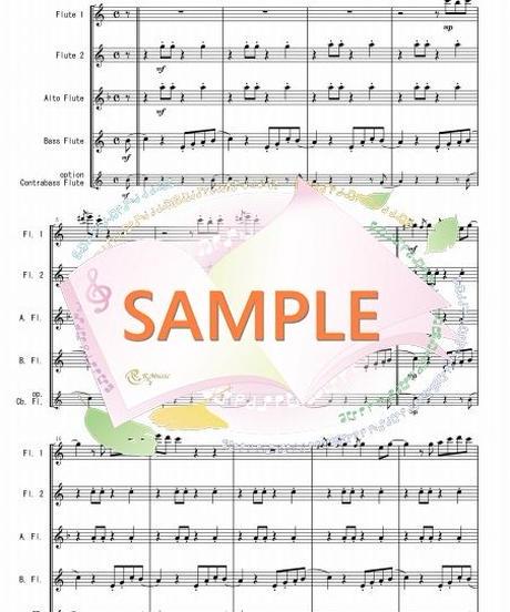 FQG017 ルージュの伝言「魔女の宅急便」より/荒井由実:フルート四重奏(2Flutes,Alto-Flute,Bass-Flute/op.+Contrabass-flute)