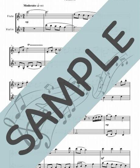 SP-SET004-01 日本歌曲(童謡)5曲セット(FV012~FV016):フルート&バイオリン