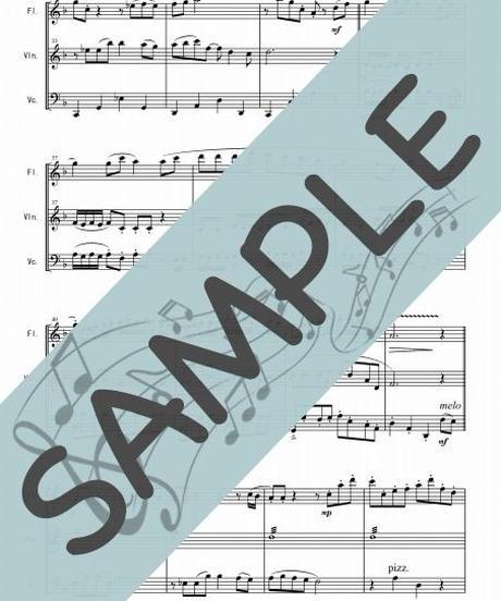SJ-FVC017-01 風のとおり道「となりのトトロ」より/久石譲:フルート、バイオリン、チェロの三重奏