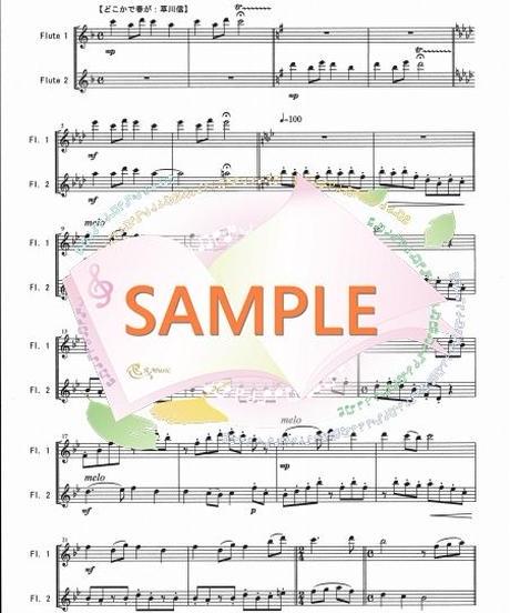 FD014 春の訪れ(全5曲メドレー)/滝廉太郎、他(フルート二重奏)