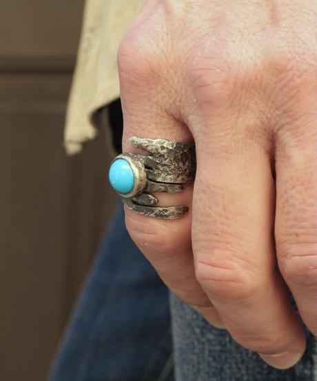 Ring - Platycerium / Turquoise【1点物】