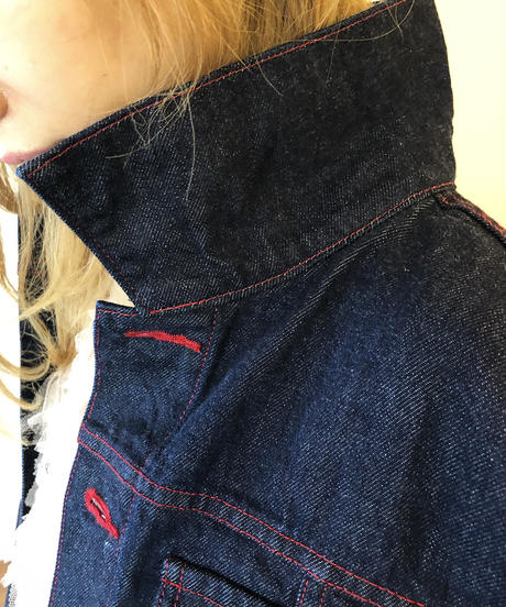 Future organic denim jacket / 未来 デニム 短ジャン / 20005