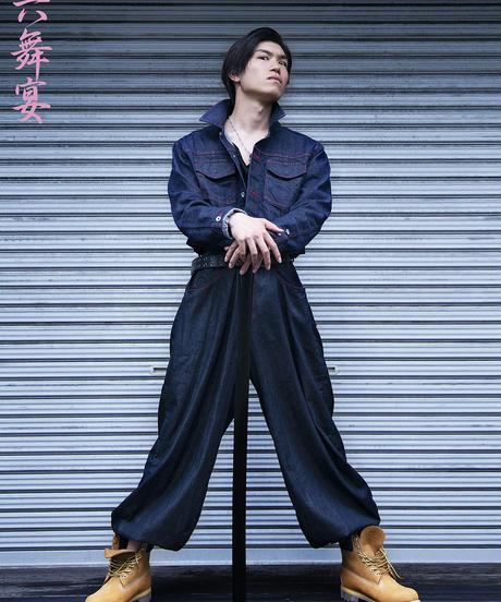 Uma-Bakama denim pants / 馬袴風 デニムパンツ / 20006