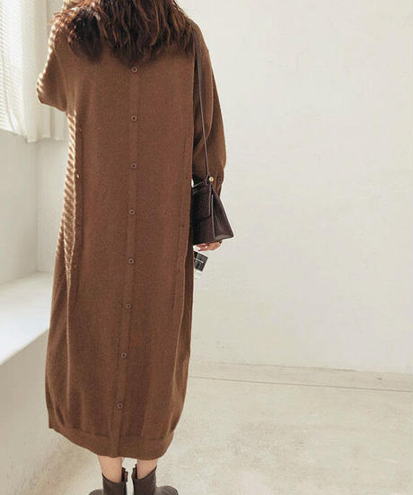 3color : Multi way Button Knit Onepiece 90259 送料無料