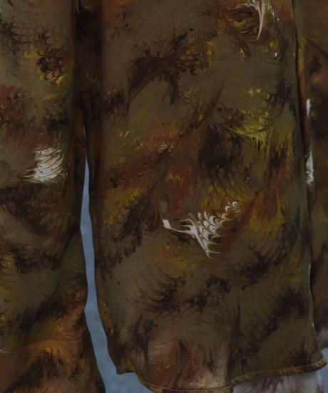 """WILDFRÄULEIN """"silk feather printed shirt"""""""