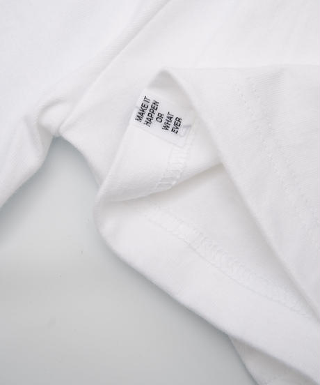 """RB09 MESSAGE TEE """"WHITE"""""""