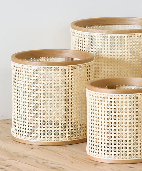 Mokuji Rattan  pot cover _オイル_size S + Stand