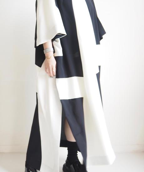 "HENRIK VIBSKOV ""FIELD DRESS"" Black White cuts"
