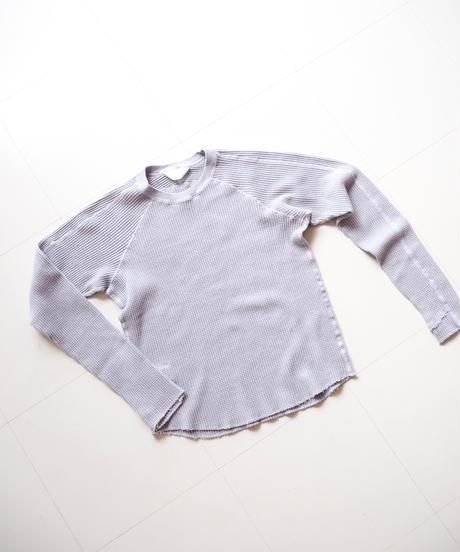 "UNUSED ""US1521 long-sleeve waffle t-shirt  "" grayish purple women's"