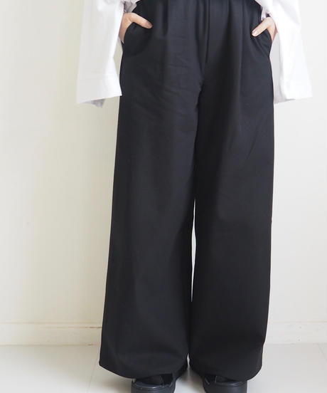 """Graphpaper """"Cotton Twill Wide Tuck Cook Pant"""" Black women"""