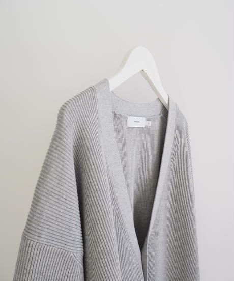 "Graphpaper ""High Density Cotton Knit Cardigan"" grey"