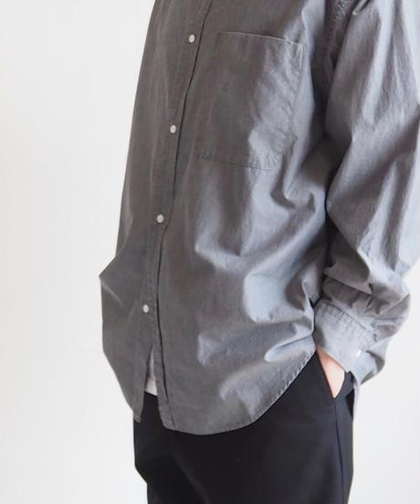 "Graphpaper ""Dungaree Band Collar Oversized Shirt""  Black unisex"
