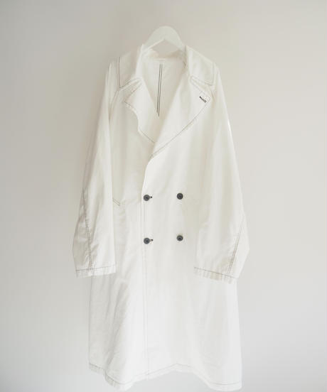 "Graphpaper ""Garment Dyed Poplin Coat"" white"