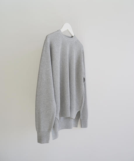 "Graphpaper ""High Density Knit Crew Neck"" grey  women"