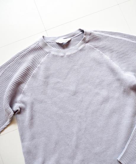 "UNUSED ""US1469 long-sleeve waffle t-shirt"" grayish purple unisex"