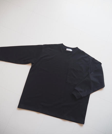 """Graphpaper """"Heavy Weight L/S Oversized Tee"""" Black"""