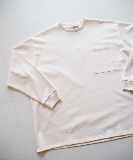 """Graphpaper """"Heavy Weight L/S Oversized Tee"""" White"""