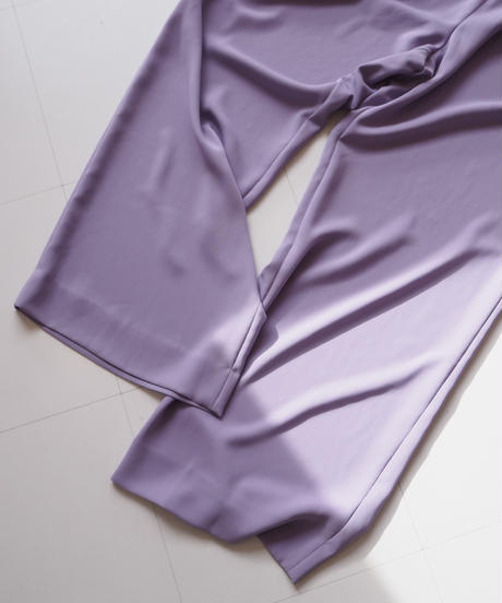 "Graphpaper ""Satin Wide Gather Pants "" Purple"