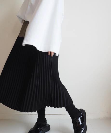 "Graphpaper ""Satin Pleats Skirt"" Black"